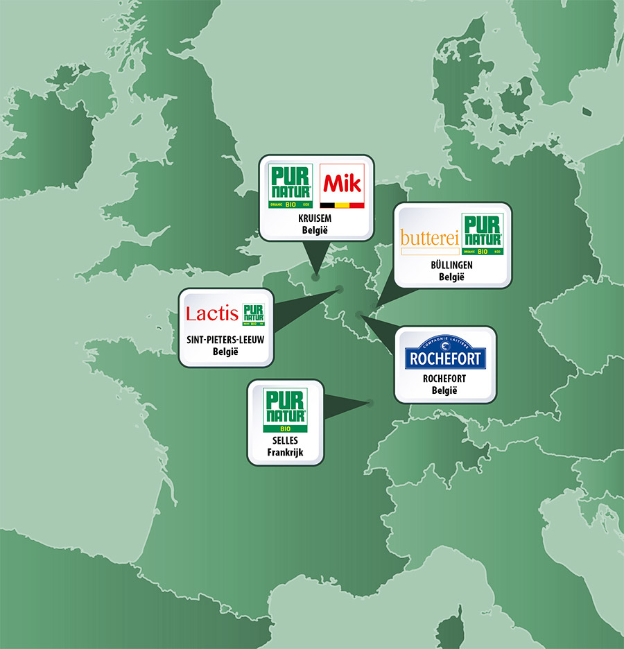 Discover all the companies of the Pur Natur group