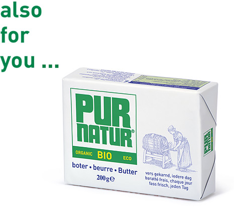butterei Pur Natur: churned butter produced in the traditional manner - also for you...